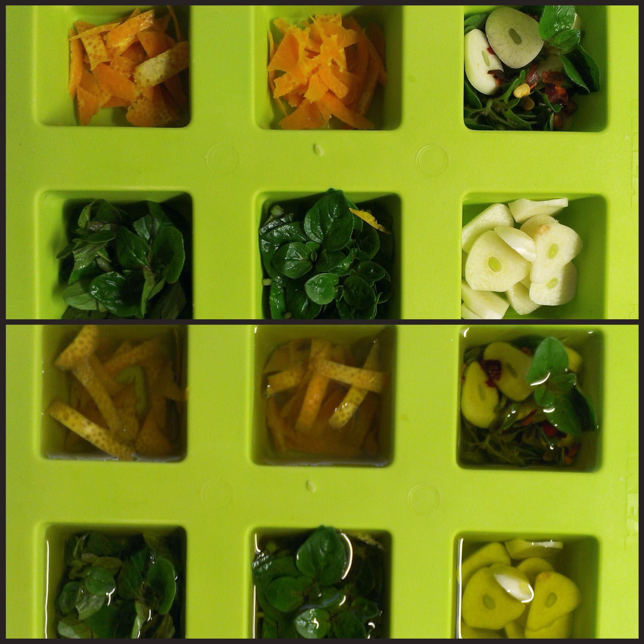 Bylinky v olivovém oleji