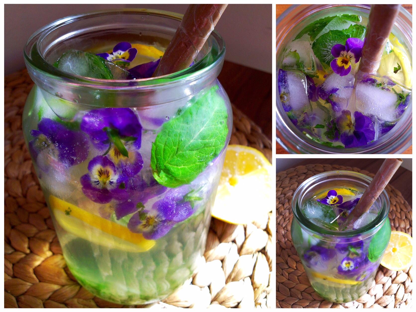 Májová citrónovo-mátová limonáda