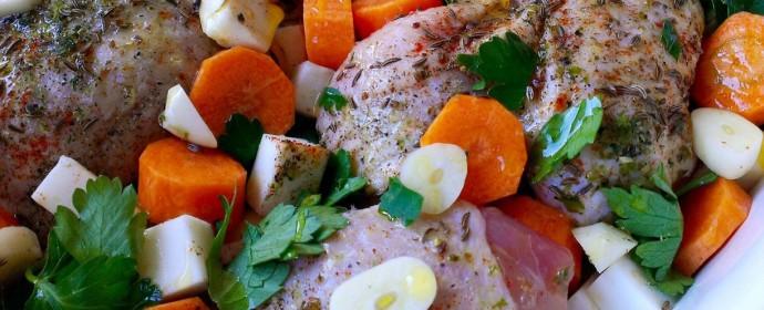 Nedělní kuře na kořenové zelenině