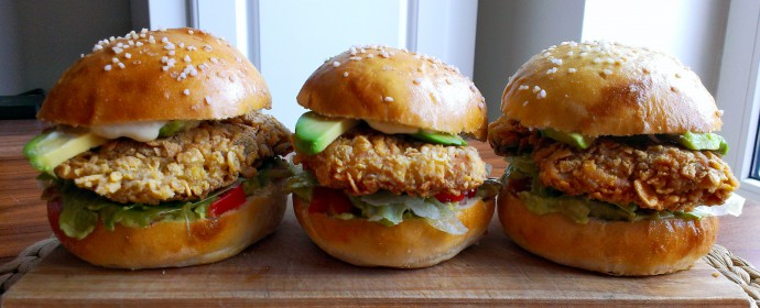 Fried Chicken Burgers